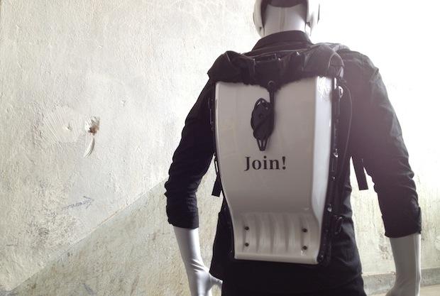 Robot branded backpack